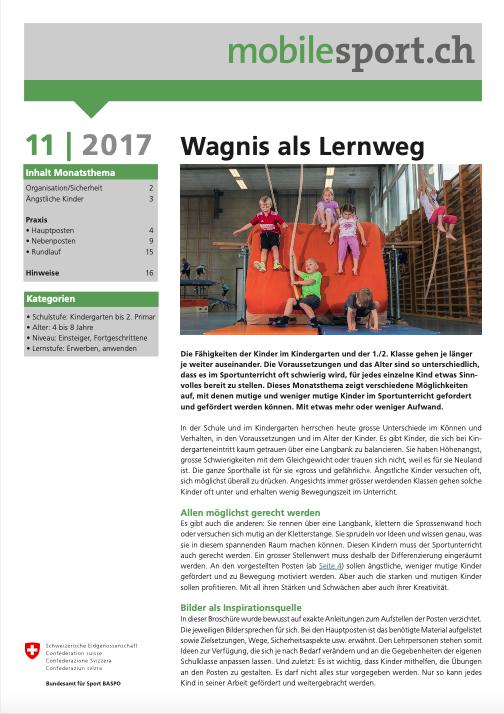 Preview image for LOM object Wagnis als Lernweg - mobilesport Monatsthema