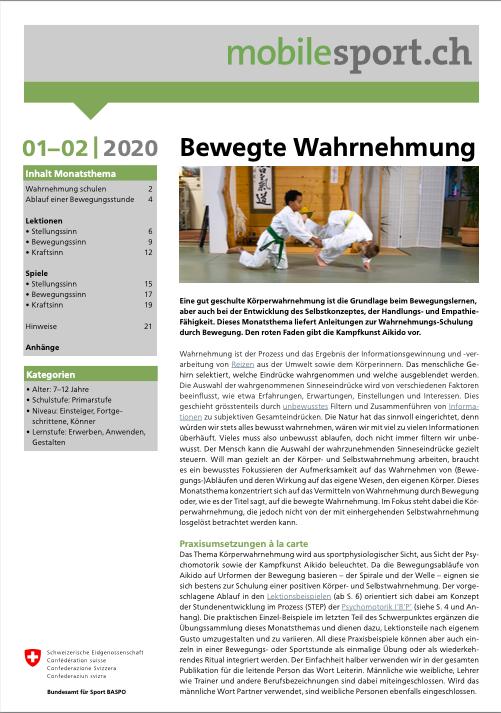 Preview image for LOM object Bewegte Wahrnehmung - mobilesport Monatsthema