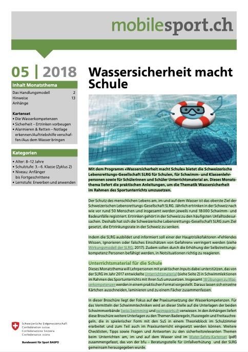 Preview image for LOM object Wassersicherheit macht Schule - mobilesport Monatsthema
