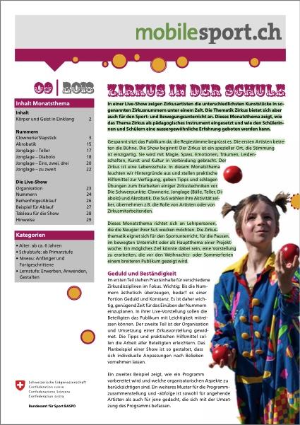 Preview image for LOM object Zirkus in der Schule - mobilesport Monatsthema