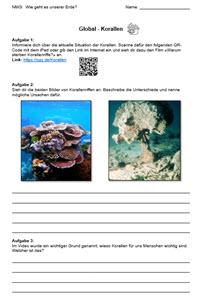 Preview image for LOM object Wie geht es unserer Erde? Recycling - Gletscher - Korallen