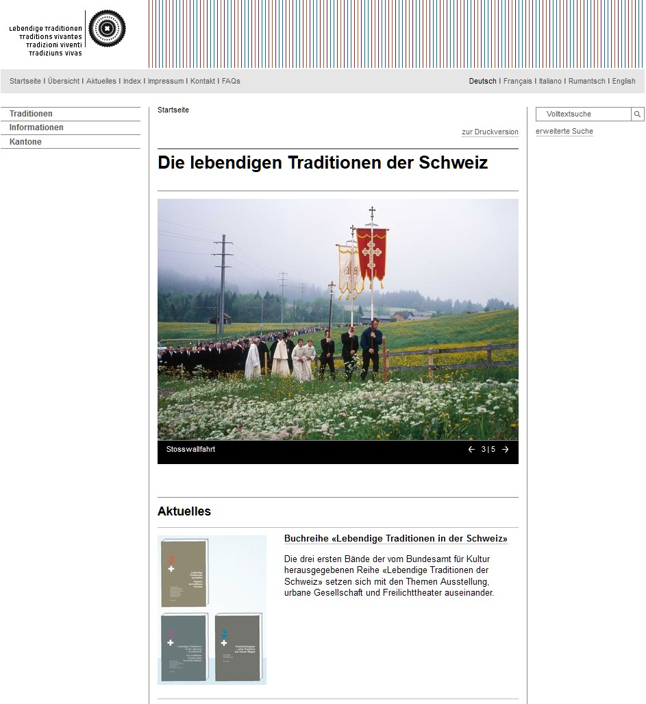 Preview image for LOM object Lebendige Traditionen in der Schweiz
