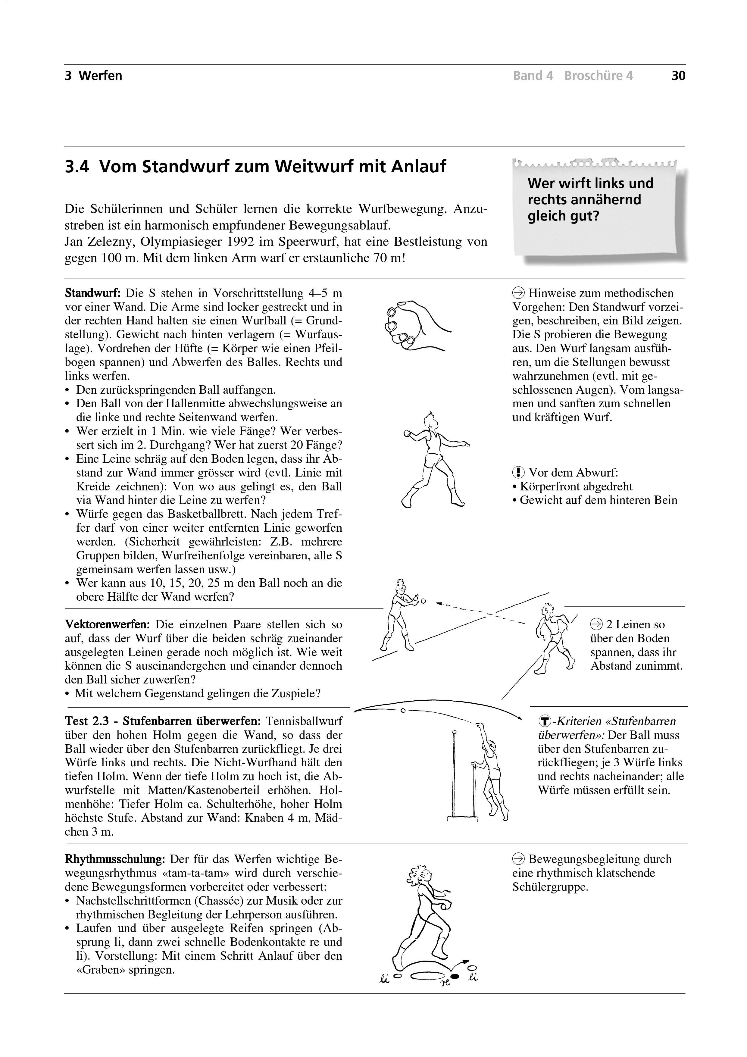 Preview image for LOM object Vom Standwurf zum Weitwurf mit Anlauf