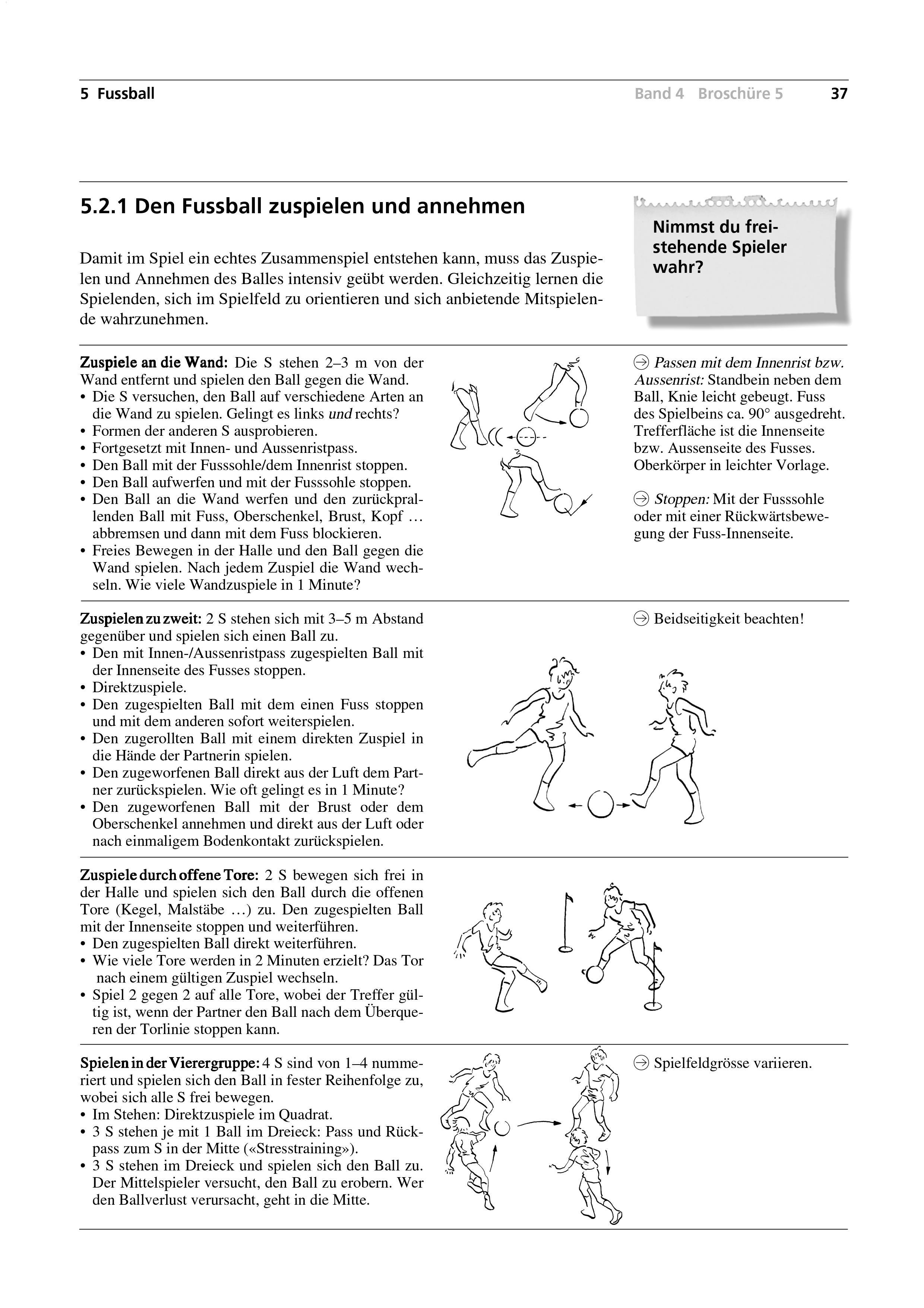 Preview image for LOM object Den Fussball zuspielen und annehmen