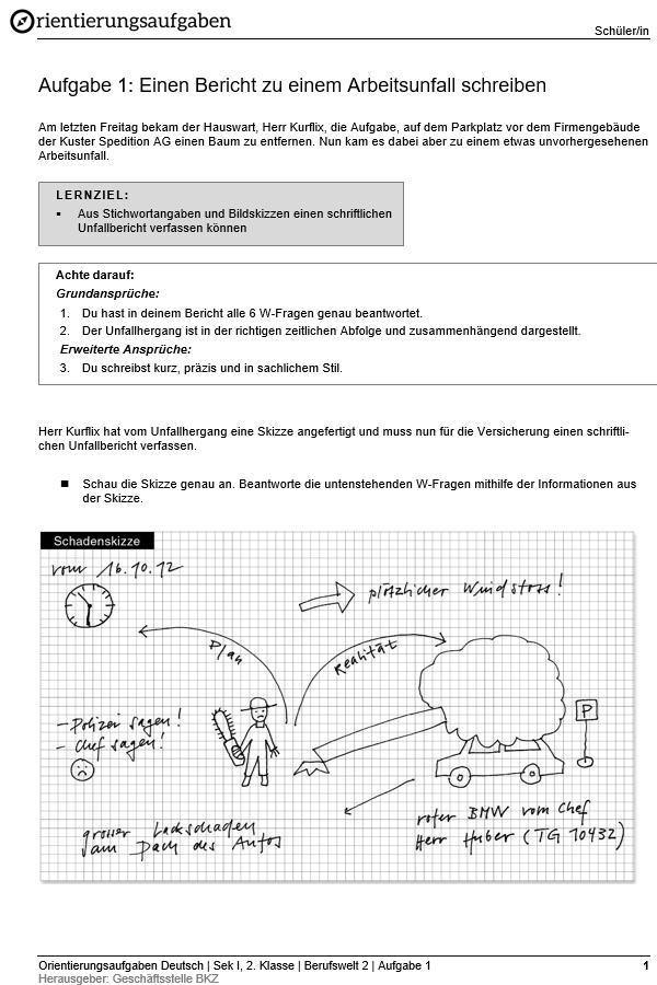 Preview image for LOM object Einen Bericht zu einem Arbeitsunfall schreiben