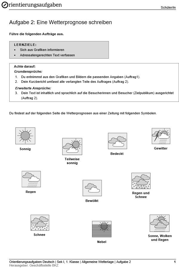 Preview image for LOM object Eine Wetterprognose schreiben