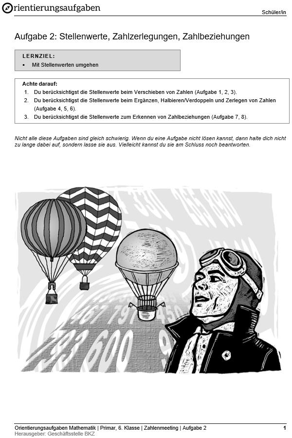 Preview image for LOM object Stellenwerte, Zahlzerlegungen, Zahlbeziehungen