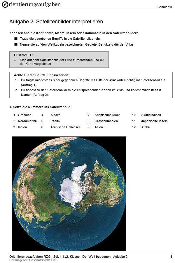 Preview image for LOM object Satellitenbilder interpretieren