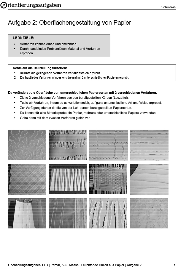Preview image for LOM object Oberflächengestaltung von Papier