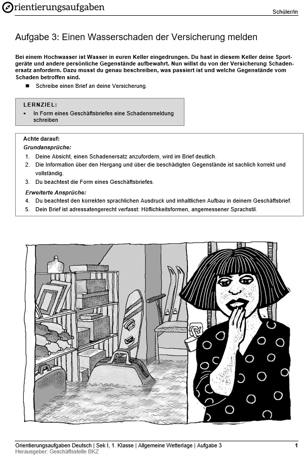 Preview image for LOM object Einen Wasserschaden der Versicherung melden