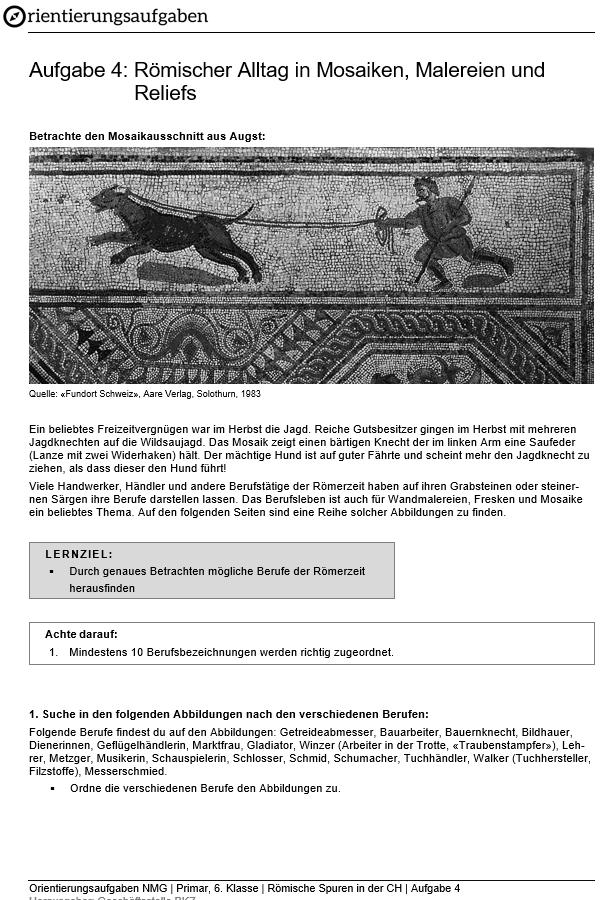 Preview image for LOM object Römischer Alltag in Mosaiken, Malereien und  Reliefs