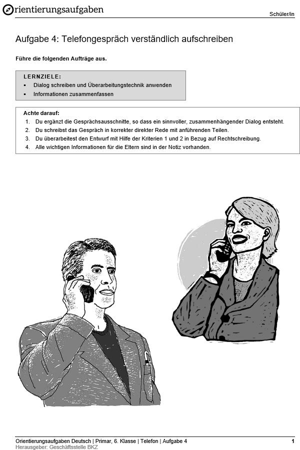Preview image for LOM object Telefongespräch verständlich aufschreiben