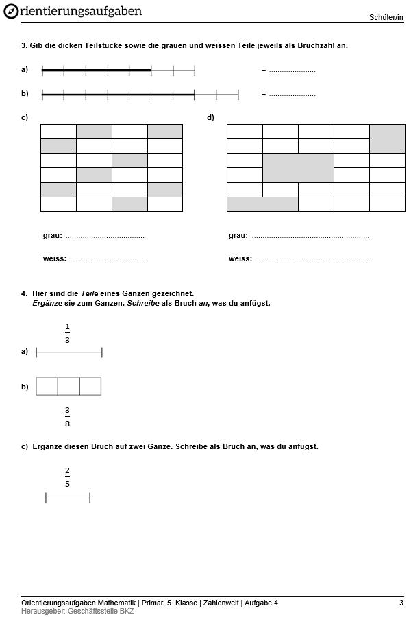 Preview image for LOM object Bruchschreibweise, Bruchwerte