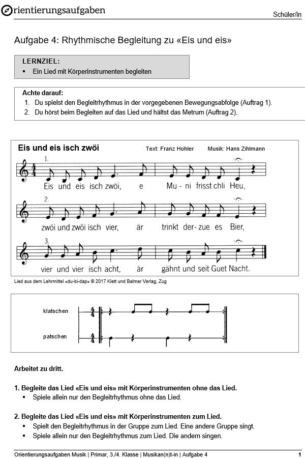Preview image for LOM object Rhythmische Begleitung zu «Eis und eis»