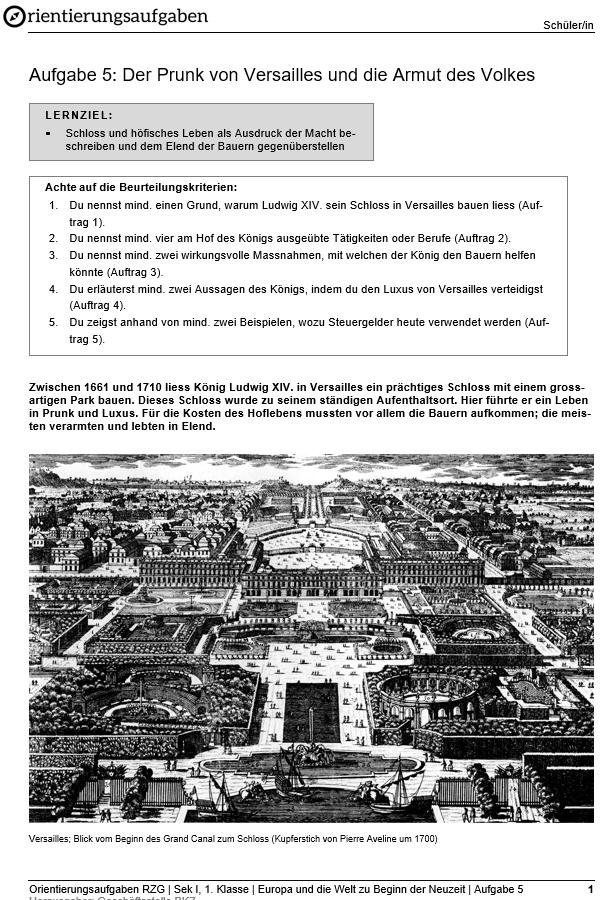 Preview image for LOM object Der Prunk von Versailles und die Armut des Volkes