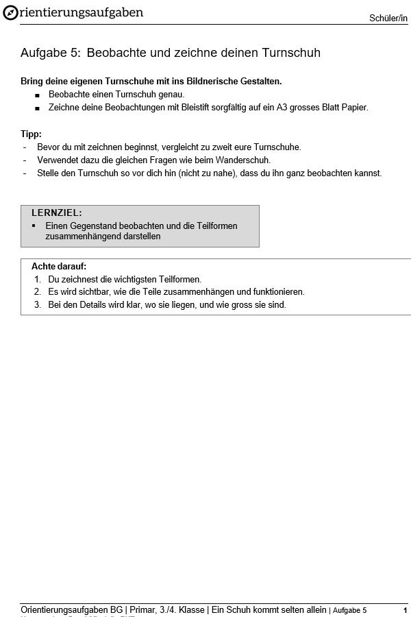 Preview image for LOM object Beobachte und zeichne deinen Turnschuh