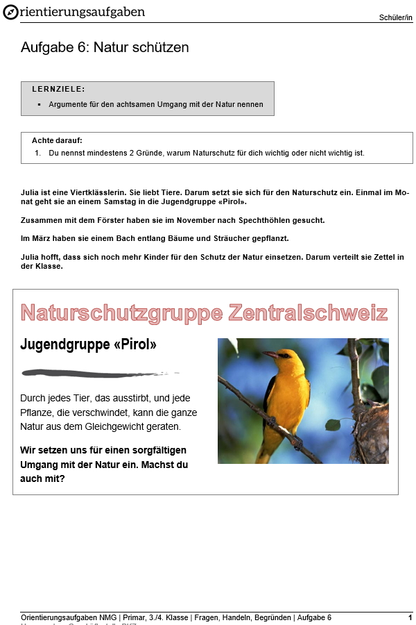 Preview image for LOM object Natur schützen