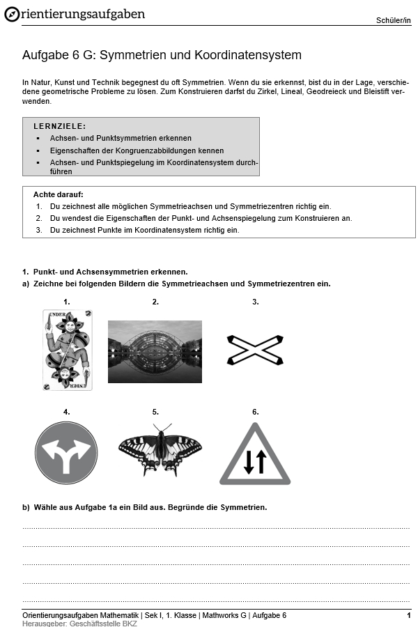 Preview image for LOM object Symmetrien und Koordinatensystem