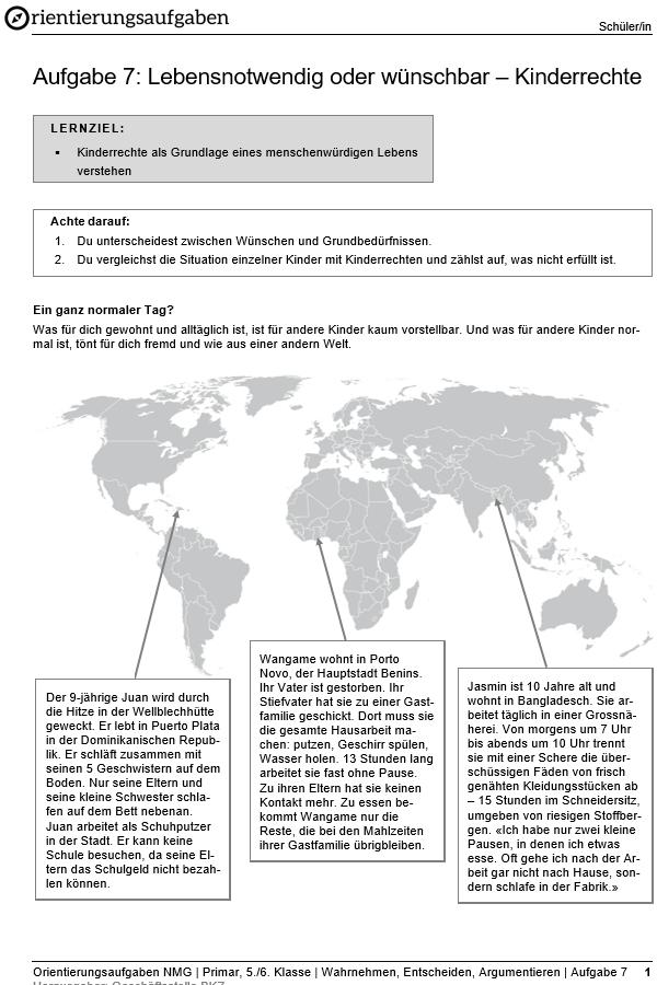 Preview image for LOM object Lebensnotwendig oder wünschbar – Kinderrechte