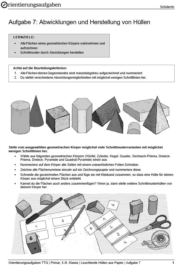 Preview image for LOM object Abwicklungen und Herstellen von Hüllen