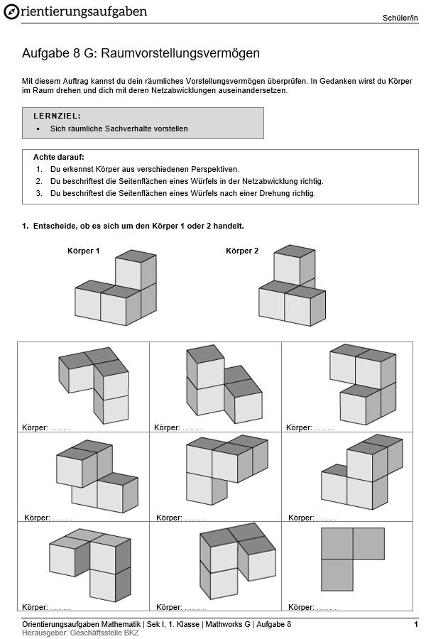 Preview image for LOM object Raumvorstellungsvermögen (Grundanforderungen)