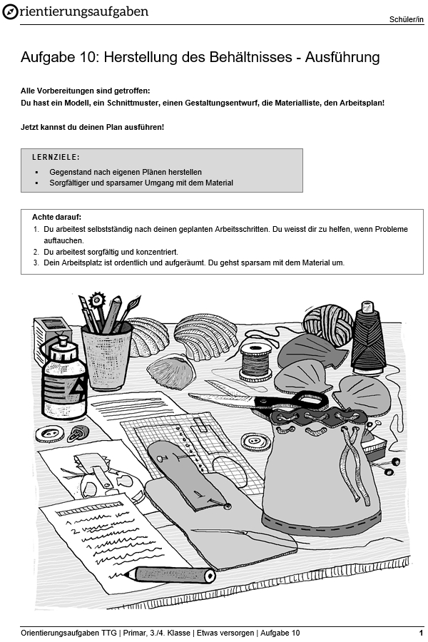 Preview image for LOM object Herstellung des Behältnisses - Ausführung