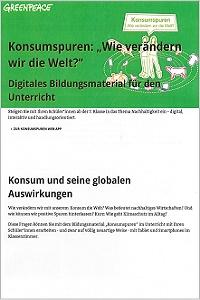 Preview image for LOM object Konsumspuren «Wie verändern wir die Welt?»