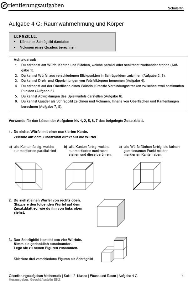 Preview image for LOM object Raumwahrnehmung und Körper