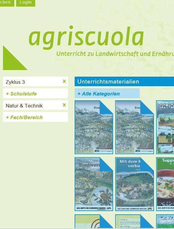 Preview image for LOM object Agriscuola - die Unterrichtsseite zu Landwirtschaft und Ernährung