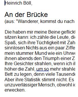 """Preview image for LOM object Kurzgeschichte """"An der Brücke"""" von Heinrich Böll"""
