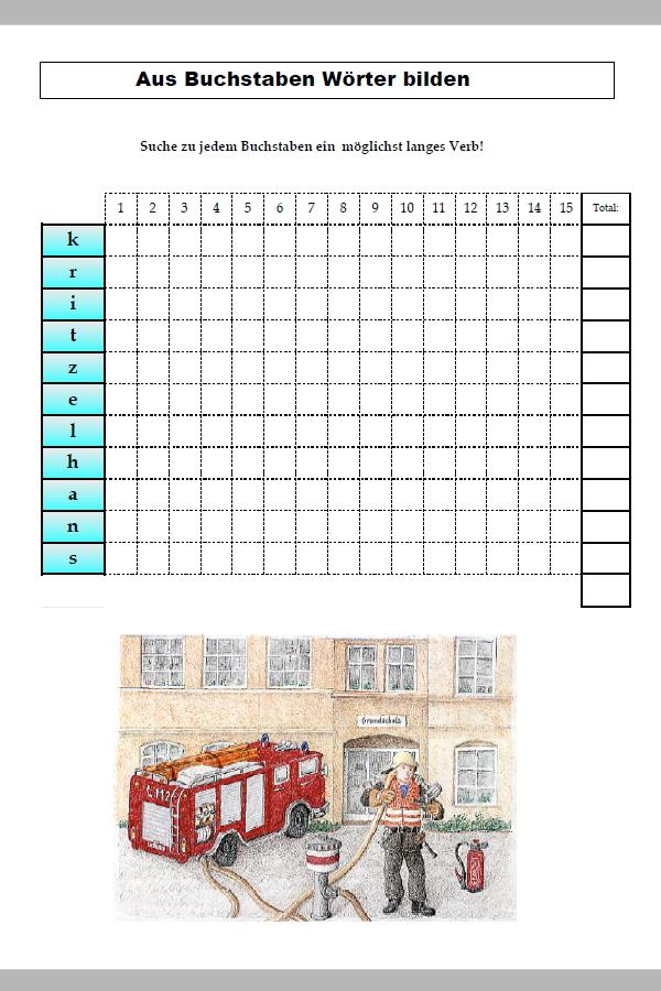 Preview image for LOM object Aus Buchstaben Wörter bilden