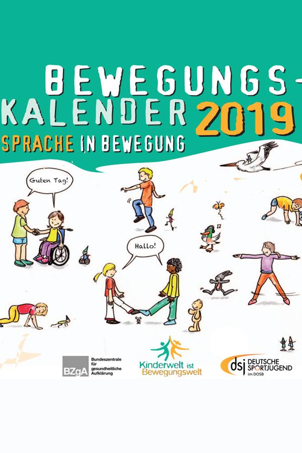 Preview image for LOM object DSJ Bewegungskalender 2019 Bewegung und Sprache