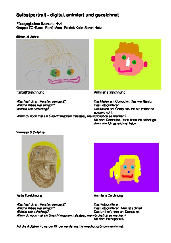 Preview image for LOM object Selbstportrait erstellen - digital, animiert und gezeichnet