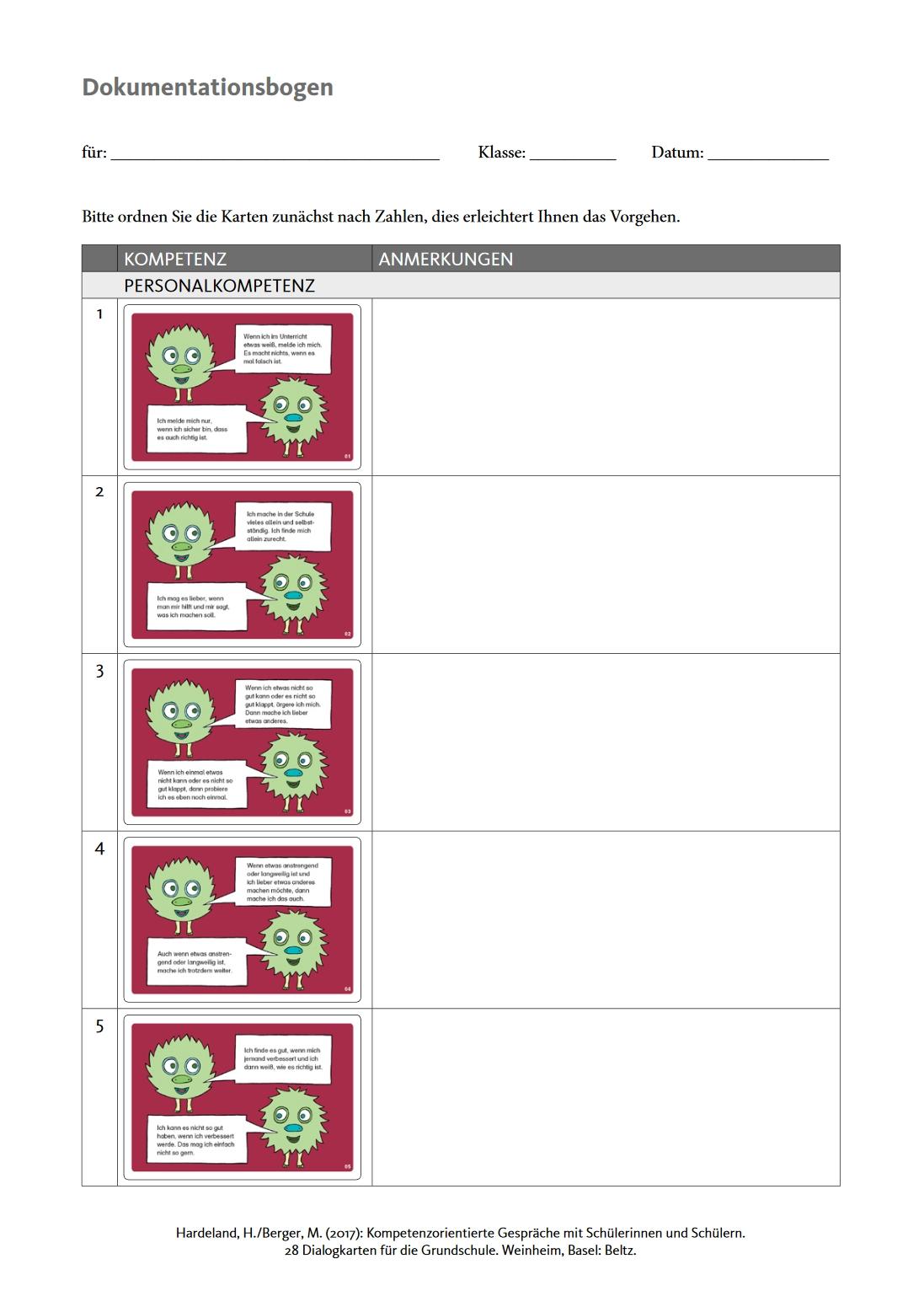 Preview image for LOM object Kompetenzorientierte Gespräche mit Schülerinnen und Schülern
