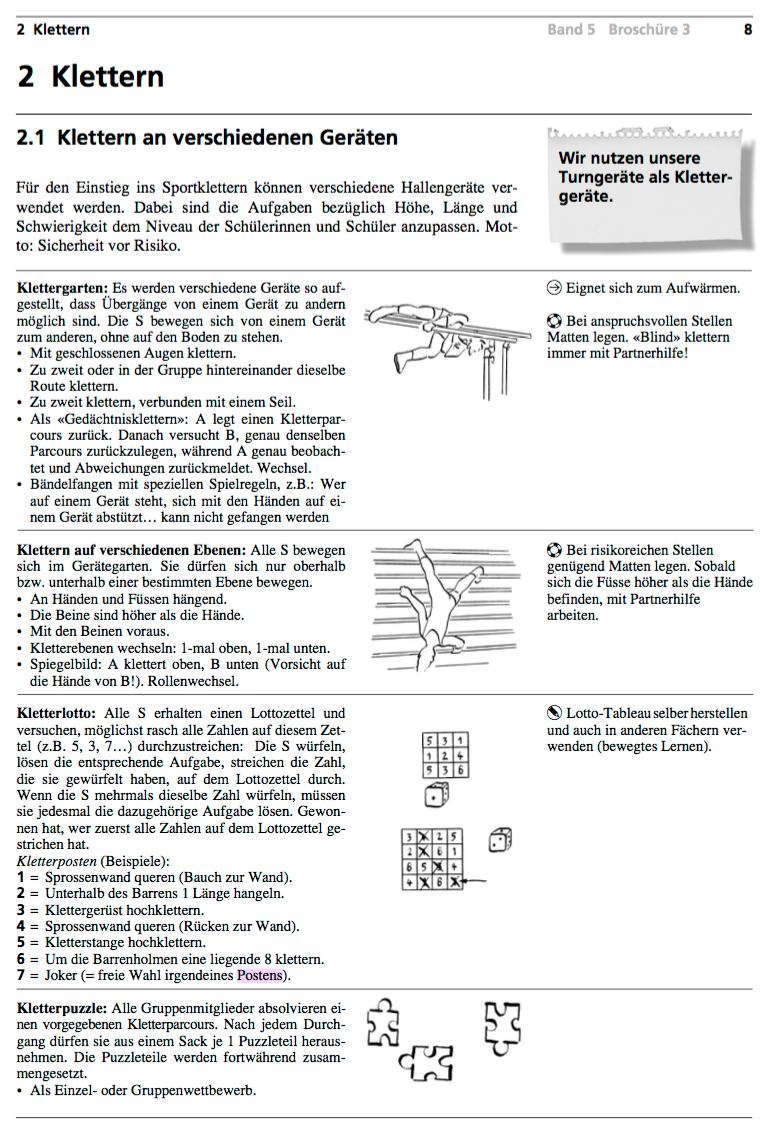 Preview image for LOM object Einstieg ins Klettern an verschiedenen Geräten