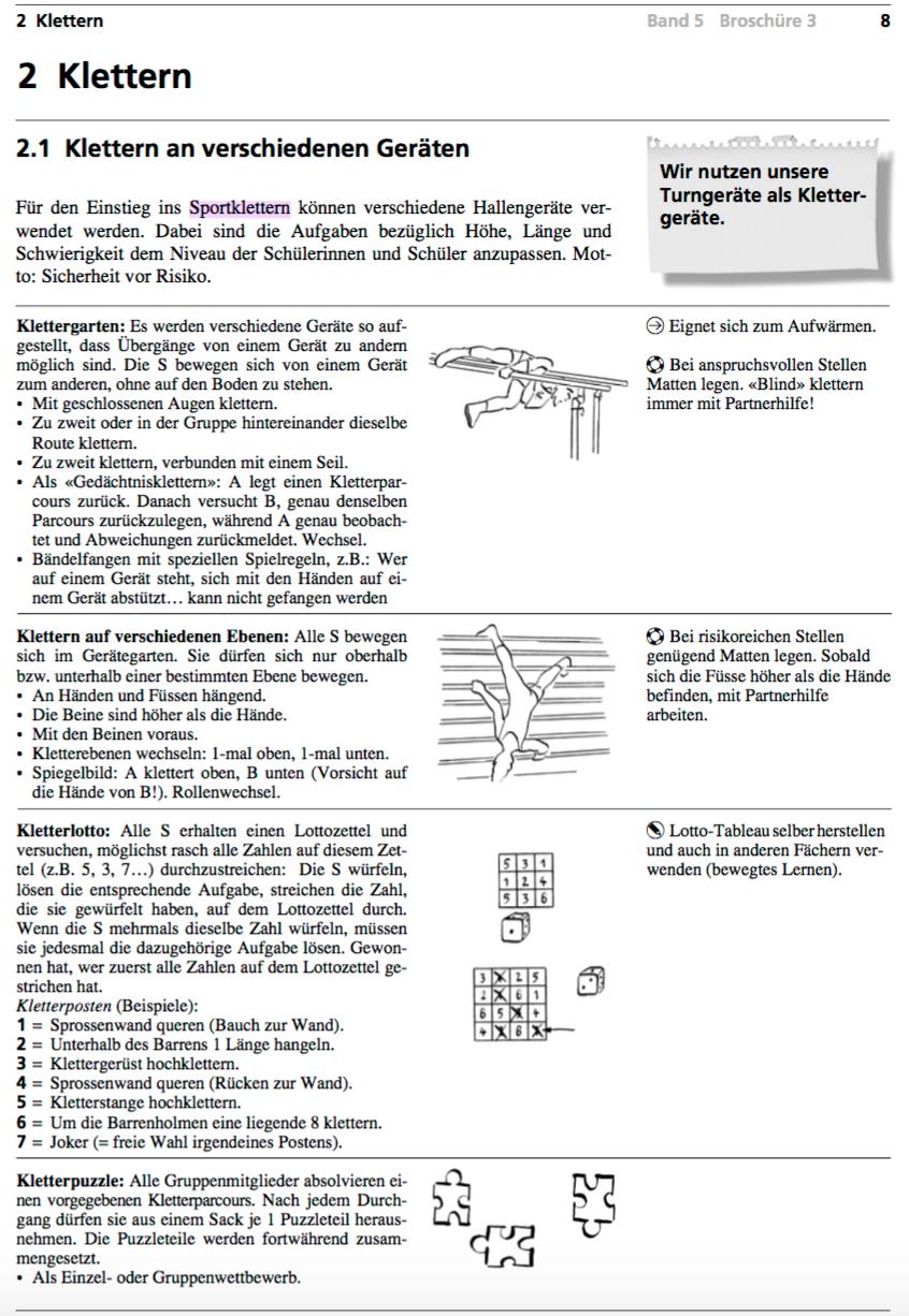 Preview image for LOM object Klettern an verschiedenen Geräten