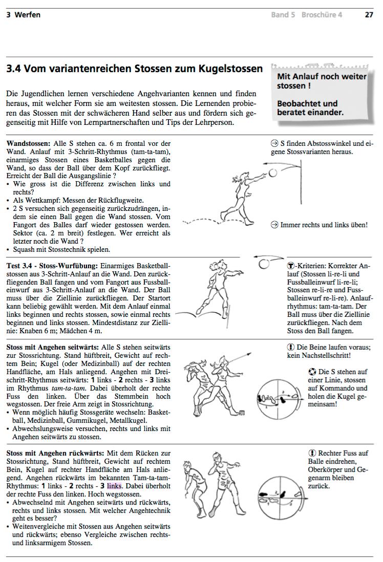 Preview image for LOM object Kugelstossen - vom variantenreichen Stossen zum Kugelstossen