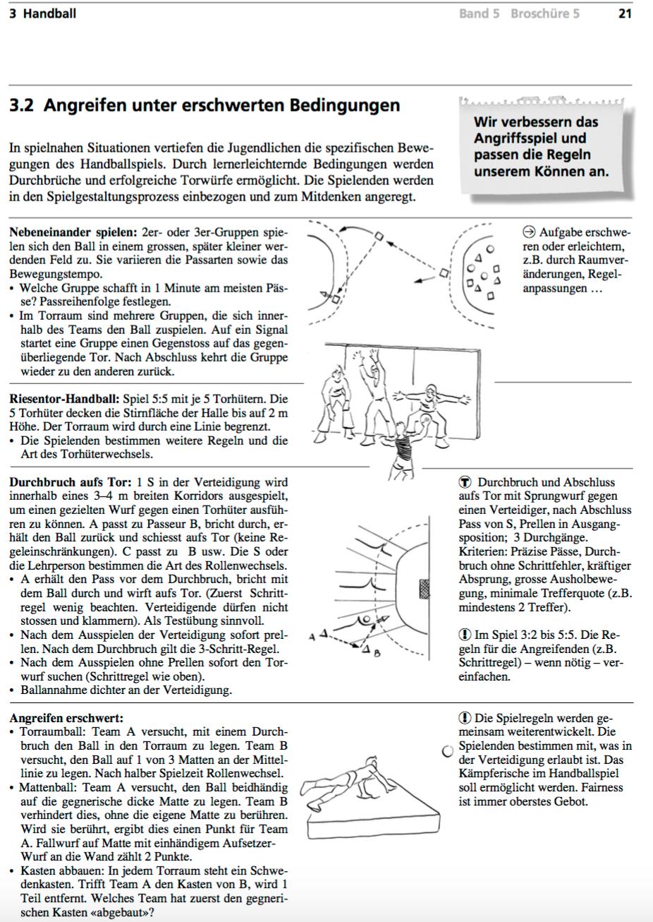Preview image for LOM object Handball - Angreifen unter erschwerten Bedingungen