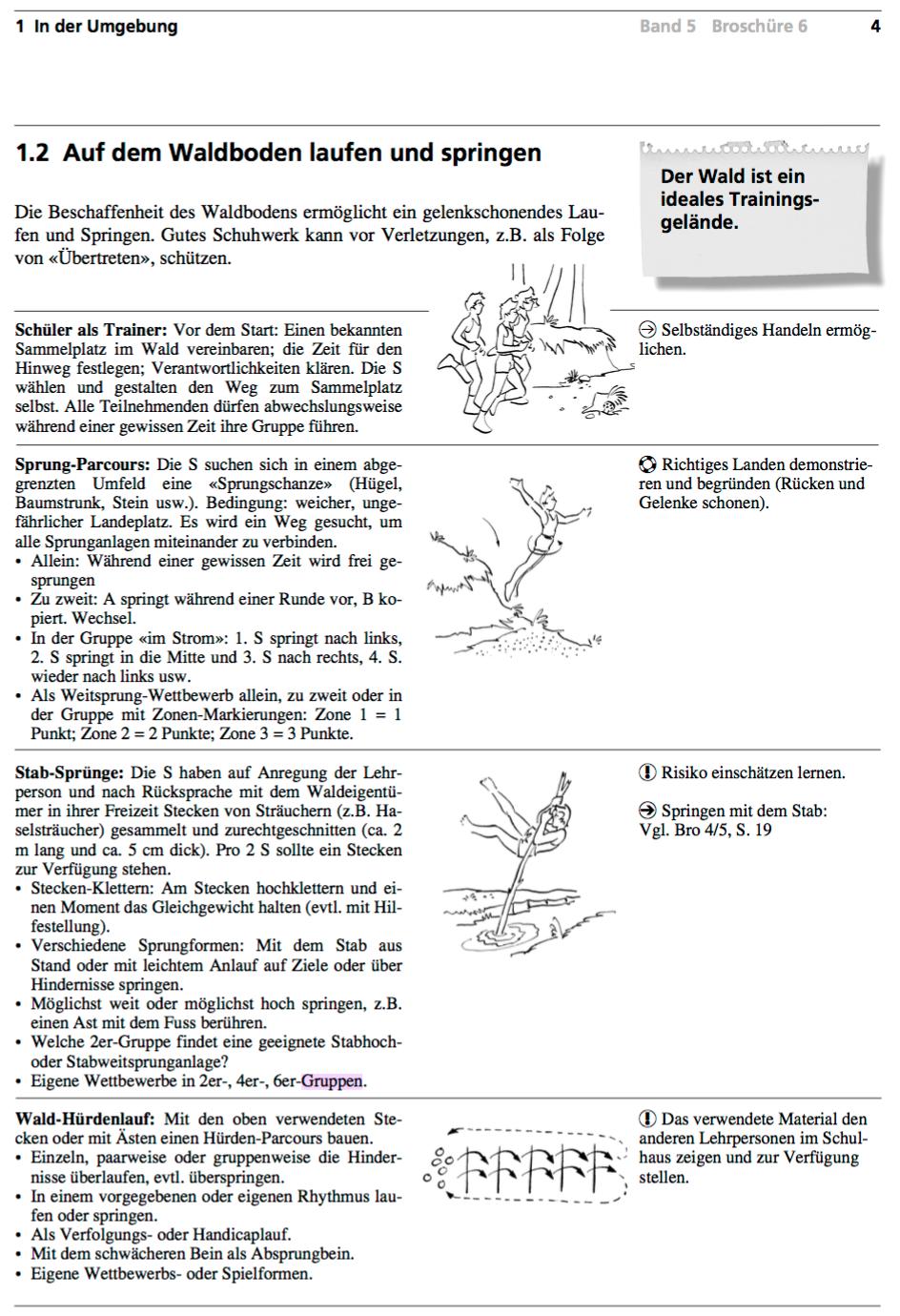 Preview image for LOM object Auf dem Waldboden laufen und springen (Hürdenlauf)