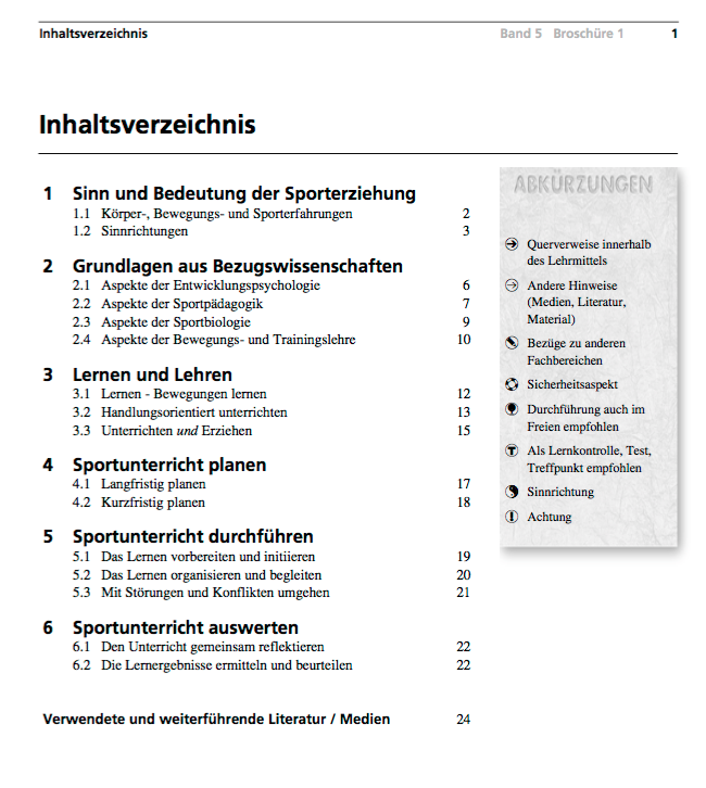 Preview image for LOM object Lehrmittel Sporterziehung 5: 6. - 9. Schuljahr: Broschüre 1