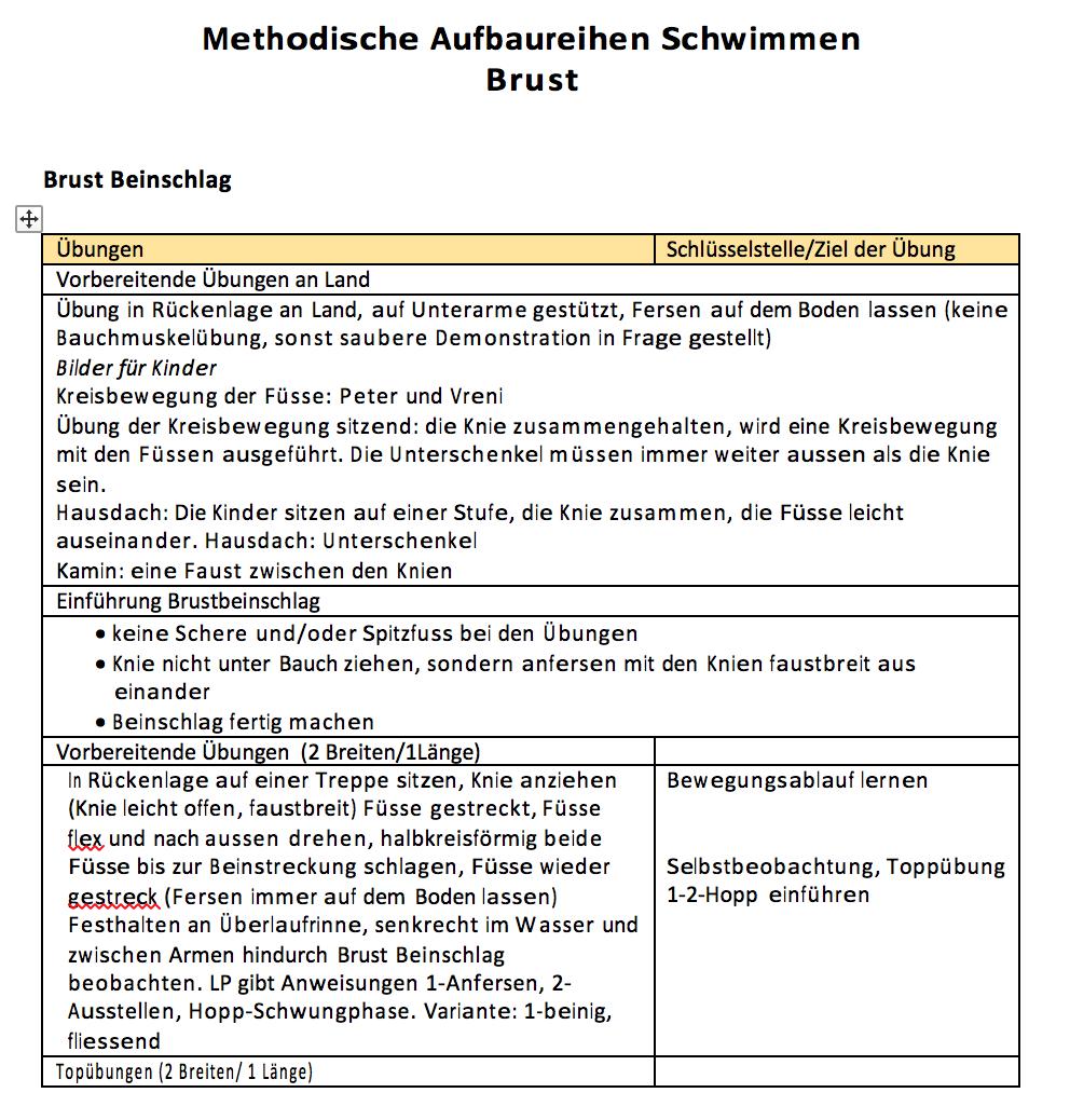 Preview image for LOM object Methodische Aufbaureihe Brustschwimmen