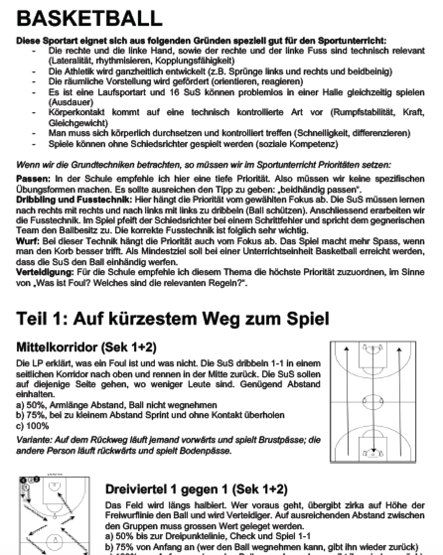 Preview image for LOM object Basketball - Spielformen für die Primar- und Sekundarstufe