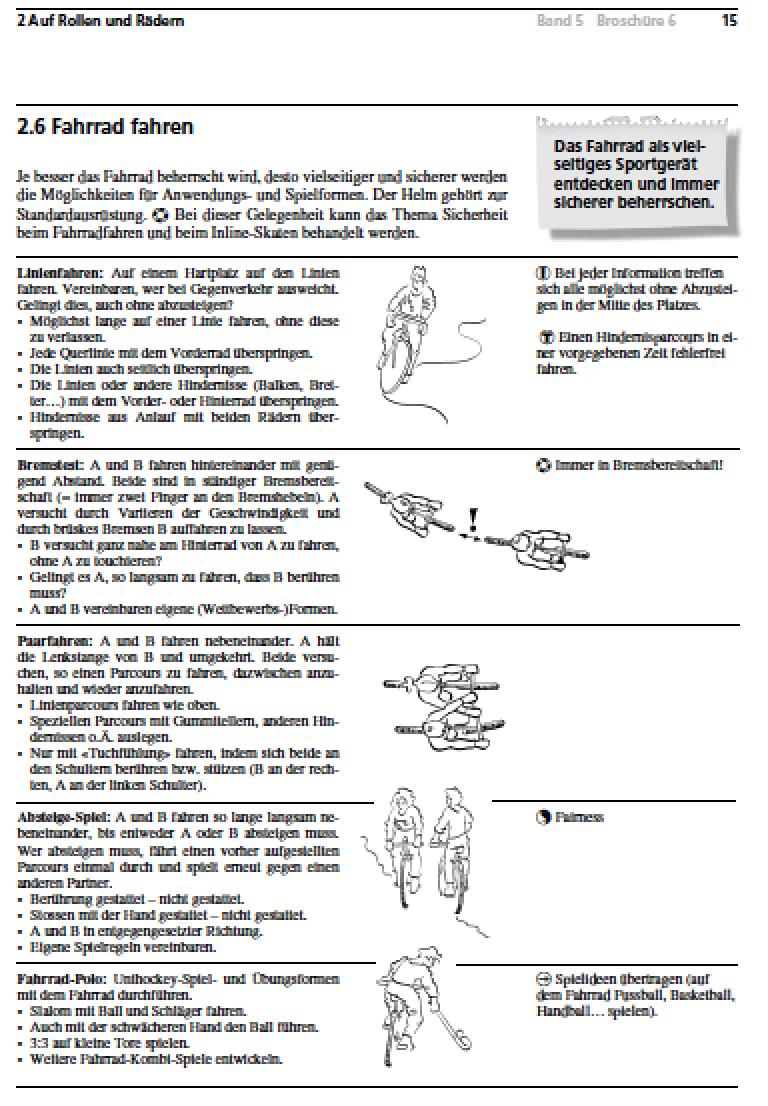 Preview image for LOM object Das Fahrrad als vielseitiges Sportgerät
