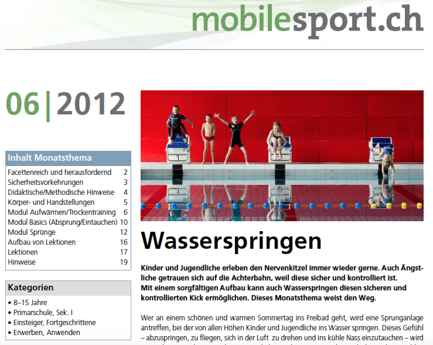Preview image for LOM object Wasserspringen