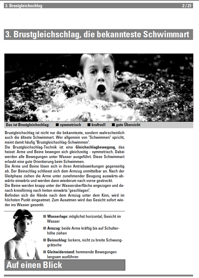 Preview image for LOM object Brustgleichschlag - Lehrmittel Schwimmen