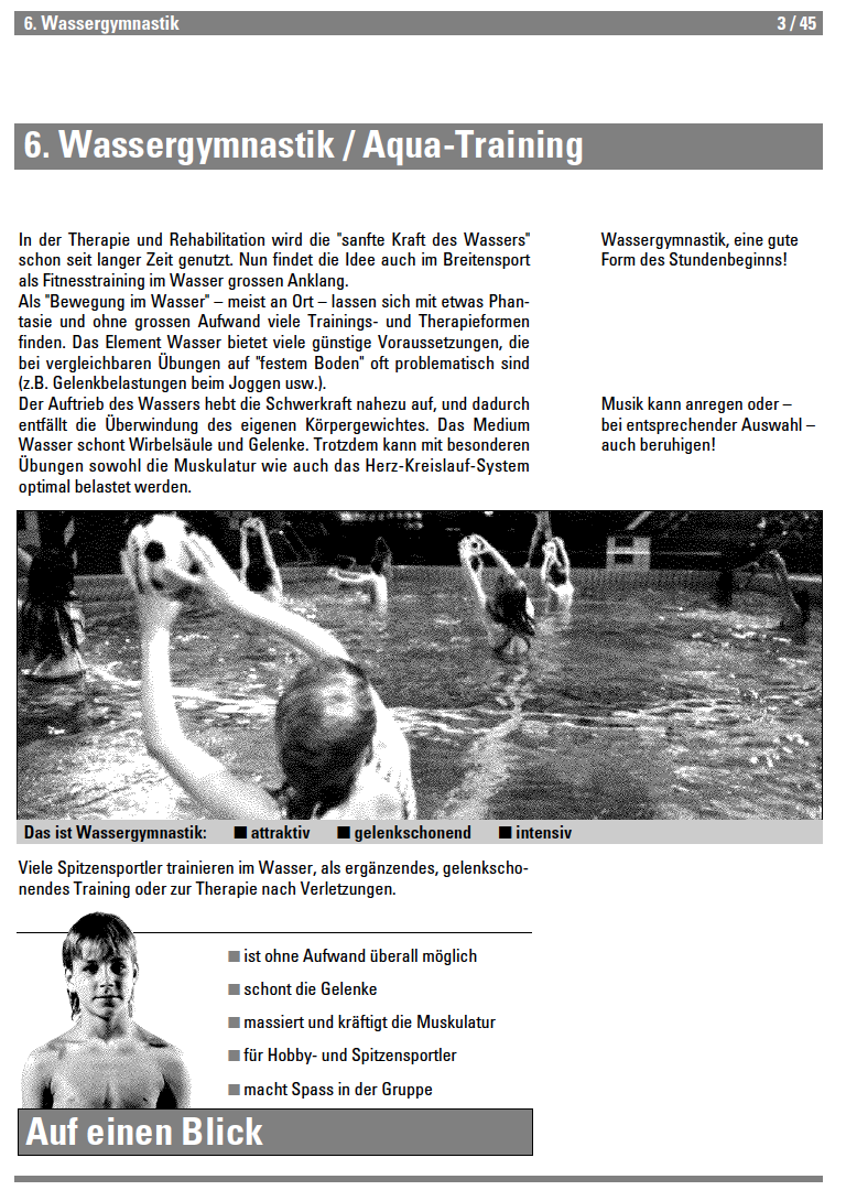 Preview image for LOM object Wassergymnastik - Lehrmittel Schwimmen