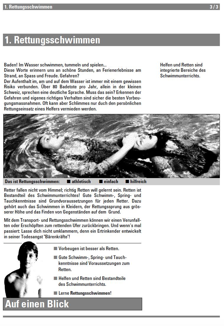 Preview image for LOM object Rettungsschwimmen - Lehrmittel Schwimmen