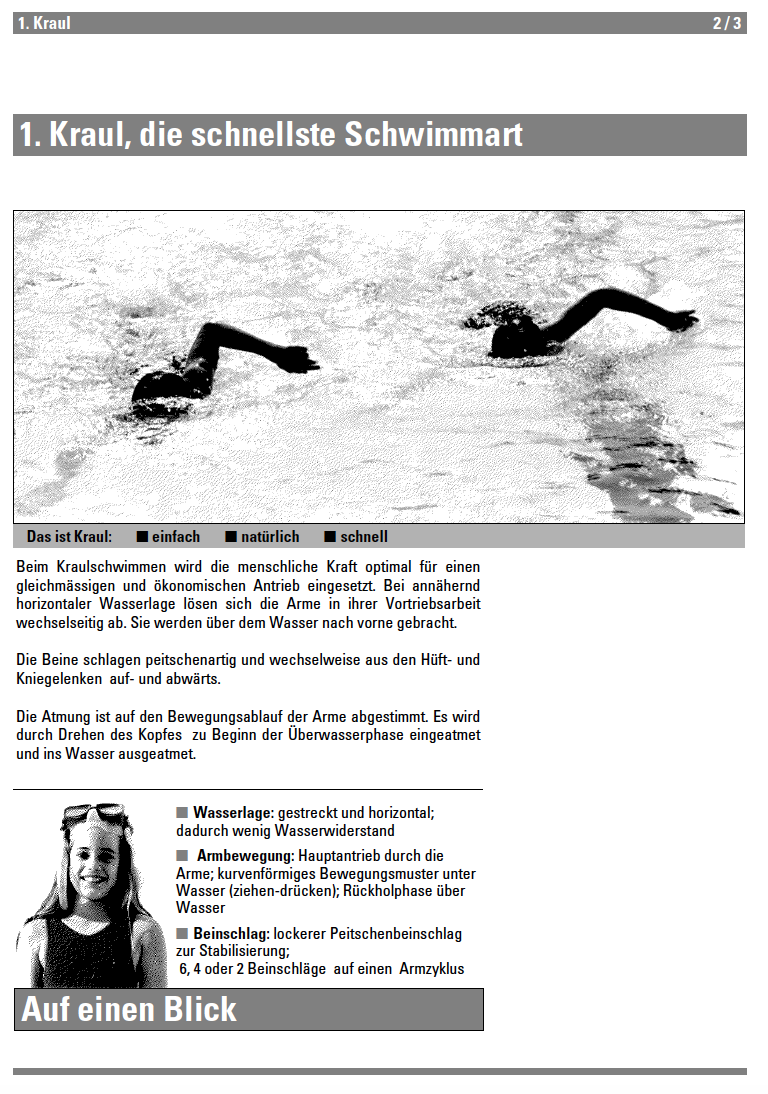 Preview image for LOM object Kraul - Lehrmittel Schwimmen
