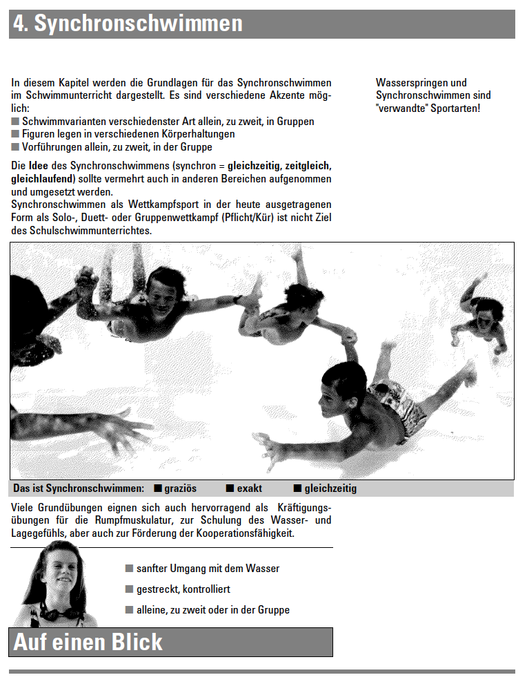 Preview image for LOM object Synchronschwimmen - Lehrmittel Schwimmen