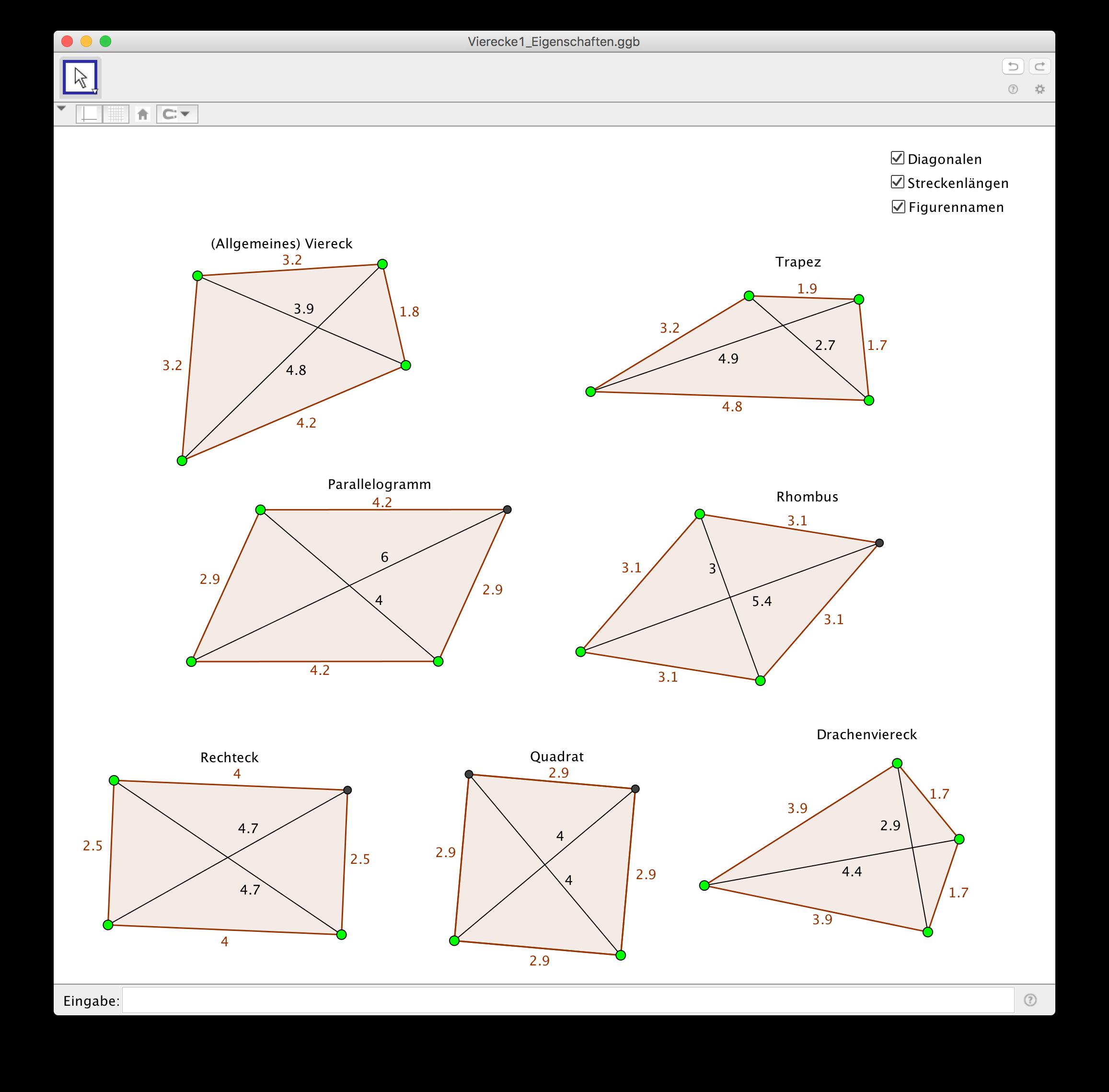 Preview image for LOM object Eigenschaften von Vierecken am Computer erforschen